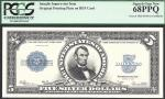 $5 1923  SILVER CERTIFICATE=FRONT= INTAGLIO=PCGS SUPERB GEM New 68 PPQ