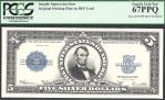 $5 1923  SILVER CERTIFICATE=FRONT= INTAGLIO=PCGS SUPERB GEM New 67 PPQ