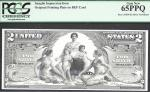 $2 1896  SILVER CERT=FRONT=EDUCATIONAL= INTAGLIO=PCGS  GEM New 65 PPQ